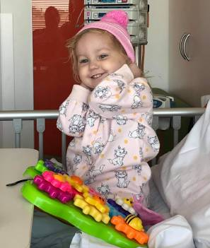 TREATMENT: Gabriella Preuss, 2, was diagnosed with leukaemia earlier this month and is going through treatment in Adelaide. Photo courtesy of the Preuss family.