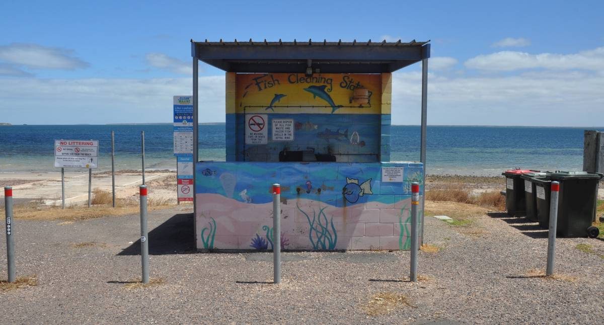 FISH CLEANING: The fish cleaning station near Fosters Boat Ramp at Ceduna needs to be relocated, but some residents are concerned about where it may be moved to. Photo: Luca Cetta