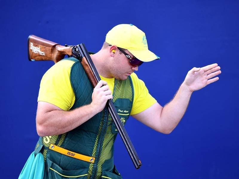 Paul Adams took out the skeet final of the Commonwealth Championships.