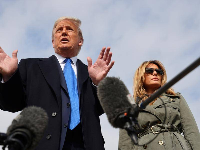 US President Donald Trump and Melania Trump are touring key states a week ahead of the election.
