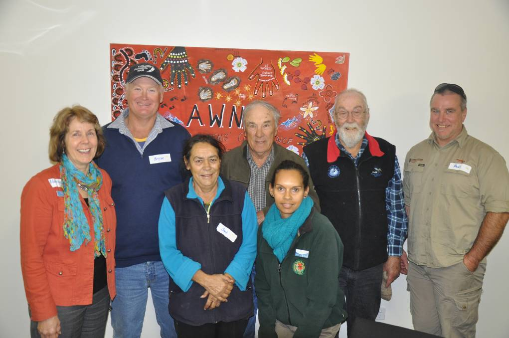 GROUP EFFORT: People involved with restoring Googs Lake were Heather Baldock (presiding member EPNRM Board), Bryan Smith (board member), Sue Haseldine, Barry Beattie, Tammy Cox (Natural Resources Eyre Peninsula ranger), Bob Skinner and Paul Gregory (Natural Resources Alinytjara Wilurara project officer).