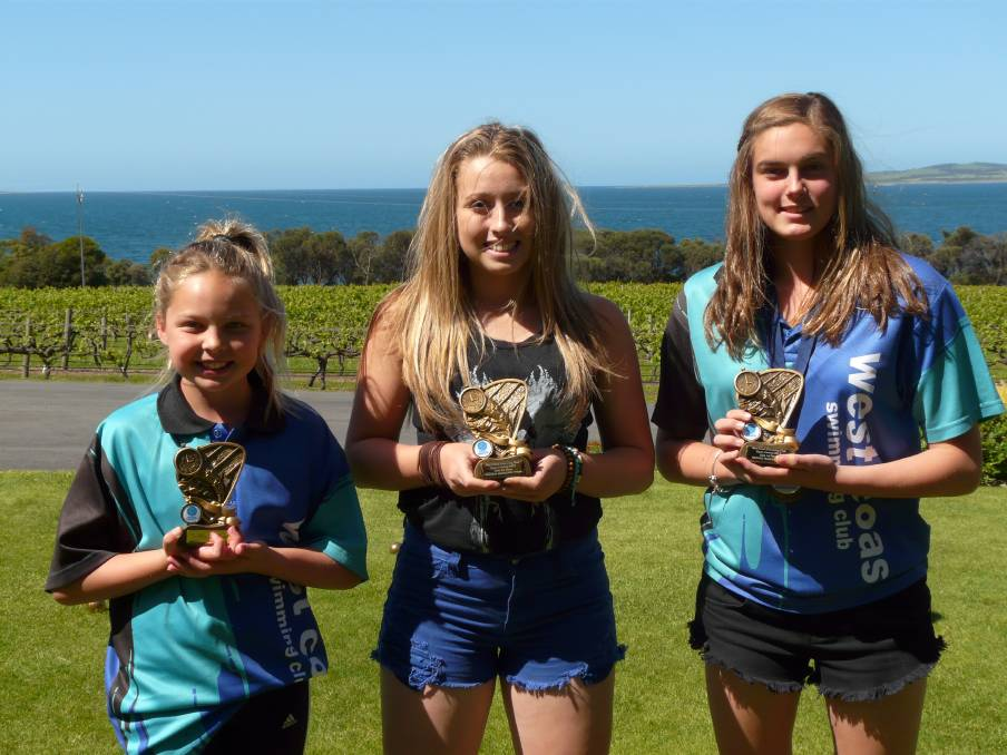 HIGHEST POINT SCORERS: Open carnival highest point scorers Sophie Traeger, Natasha Hammond and Brooke Traeger.